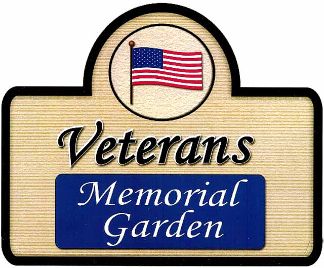 Logo of the Veterans Memorial Garden in Branson, MO.