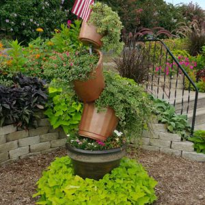 Interesting planter at Veterans Memorial Garden in Branson, MO.